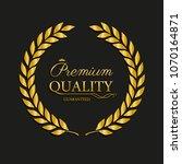 vector golden laurel wreath.... | Shutterstock .eps vector #1070164871