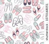 women's summer shoes.  vector... | Shutterstock .eps vector #1070168051
