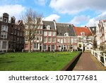 beguine yard  dutch  begijnhof  ... | Shutterstock . vector #1070177681