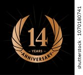 14 years anniversary. elegant... | Shutterstock .eps vector #1070180741