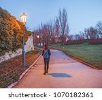 alone in the dark park at... | Shutterstock . vector #1070182361