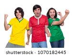 young soccer fans two men and...   Shutterstock . vector #1070182445