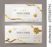 set of stylish gift voucher... | Shutterstock .eps vector #1070183741