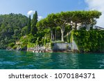 villa del balbianello on lake... | Shutterstock . vector #1070184371