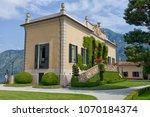 villa del balbianello on lake... | Shutterstock . vector #1070184374