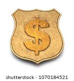 gold money badge isolated on... | Shutterstock . vector #1070184521