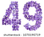arabic numeral 49  forty nine ... | Shutterstock . vector #1070190719