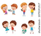 vector illustration of kids... | Shutterstock .eps vector #1070191517