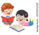 vector illustration of kids... | Shutterstock .eps vector #1070191529