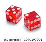 red casino gambling dice... | Shutterstock . vector #1070197001
