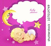 Baby Shower Pink Card With...