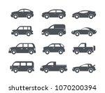 motor vehicle  pickup truck ... | Shutterstock .eps vector #1070200394