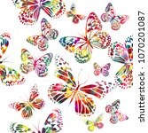 seamless background of colorful ... | Shutterstock .eps vector #1070201087