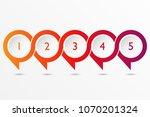 five step infographic design... | Shutterstock .eps vector #1070201324