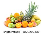 group of tropical fresh fruits... | Shutterstock . vector #1070202539