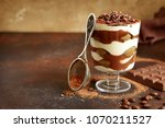 traditional italian dessert... | Shutterstock . vector #1070211527