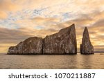 galapagos kicker rock nature... | Shutterstock . vector #1070211887