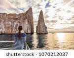 galapagos cruise ship tourist... | Shutterstock . vector #1070212037