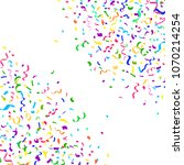 colorful bright falling... | Shutterstock .eps vector #1070214254