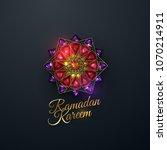 ramadan kareem. abstract girih... | Shutterstock .eps vector #1070214911