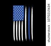 blue line american flag | Shutterstock .eps vector #1070215634