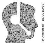 call center operator... | Shutterstock .eps vector #1070216999