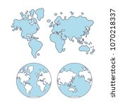world map cartoon vector | Shutterstock .eps vector #1070218337