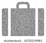 baggage mosaic of dots in... | Shutterstock .eps vector #1070219981