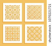 templates for laser cutting ... | Shutterstock .eps vector #1070221721
