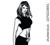 beautiful fitness girl woman....   Shutterstock .eps vector #1070223851
