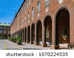 fragment of an old building in... | Shutterstock . vector #1070224535