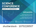 science conference business... | Shutterstock .eps vector #1070228507