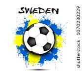soccer ball against the... | Shutterstock .eps vector #1070230229