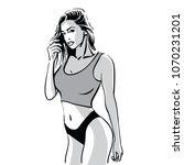 beautiful fitness girl woman....   Shutterstock .eps vector #1070231201