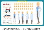 female doctor character... | Shutterstock .eps vector #1070233895