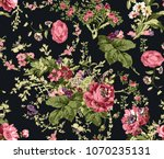 flowers pattern..for textile ... | Shutterstock . vector #1070235131