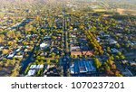 aerial view of a typical suburb ... | Shutterstock . vector #1070237201