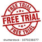 free trial round red grunge... | Shutterstock .eps vector #1070238377