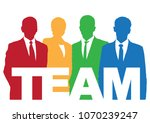 good business team. the members ... | Shutterstock .eps vector #1070239247