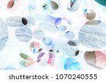 abstract medication background | Shutterstock . vector #1070240555