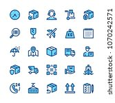delivery  logistics line icons... | Shutterstock .eps vector #1070242571