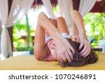 beautiful young woman enjoying... | Shutterstock . vector #1070246891