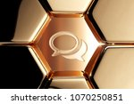 golden comments icon in the... | Shutterstock . vector #1070250851