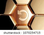 golden repeat icon in the... | Shutterstock . vector #1070254715