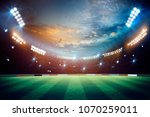 lights at night and stadium 3d... | Shutterstock . vector #1070259011