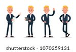 businessman character vector... | Shutterstock .eps vector #1070259131