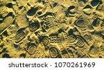 footprints in sand along aegean ...   Shutterstock . vector #1070261969