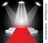 stage for awards ceremony red... | Shutterstock .eps vector #1070262131