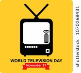 world television day | Shutterstock .eps vector #1070268431