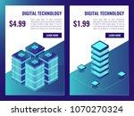 isometric server room service... | Shutterstock .eps vector #1070270324